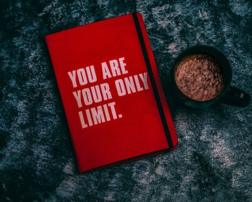 Livre avec marqué sur la couverture you are your only limit