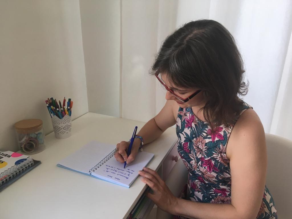 Cécile prépare un coaching scolaire